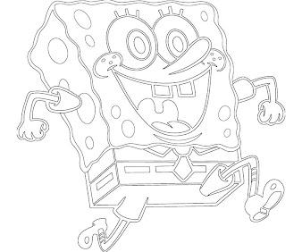 #8 Spongebob Coloring Page