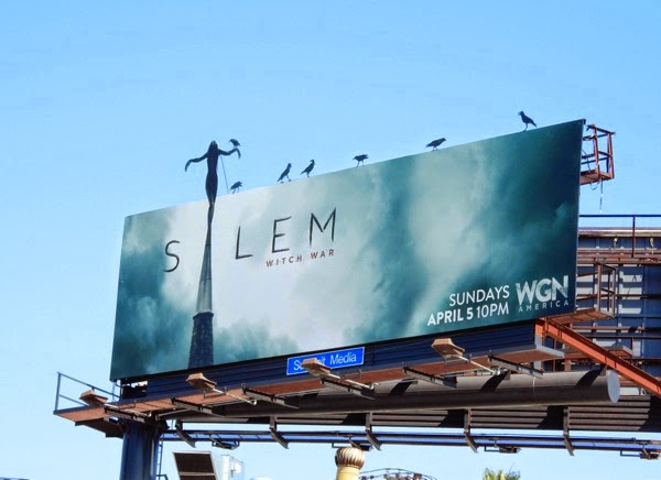 Salem season 2 crow special installation billboard