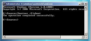 command prompt, dan reboot komputer