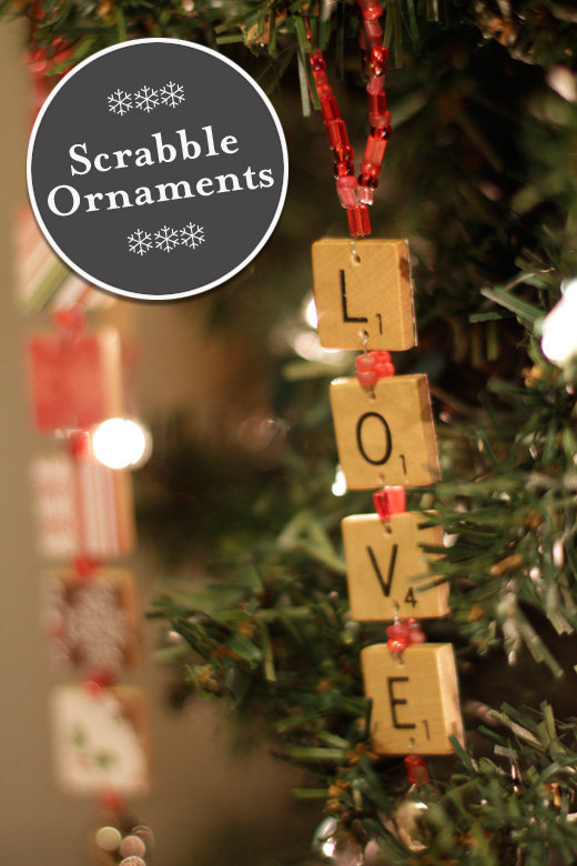 Scrabble ornaments by Things That are Pretty