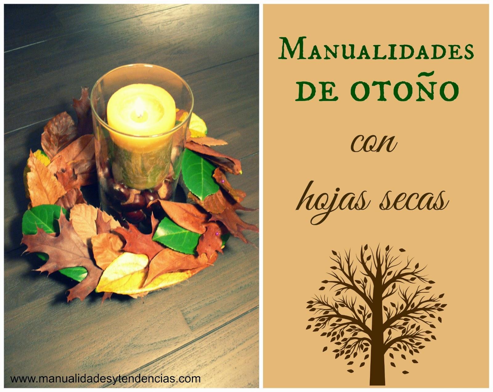 manualidades de otoño con hojas secas
