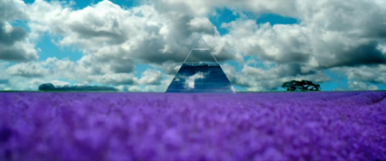 Utopia channel 4 tv show purple field pyramid