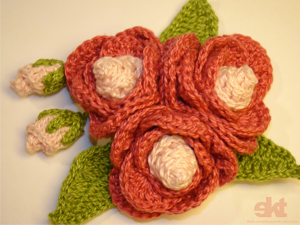 Knitting Patterns Free crochet flowers