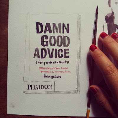 Kitty N. Wong / sketch of George Lois's book Damn Good Advice