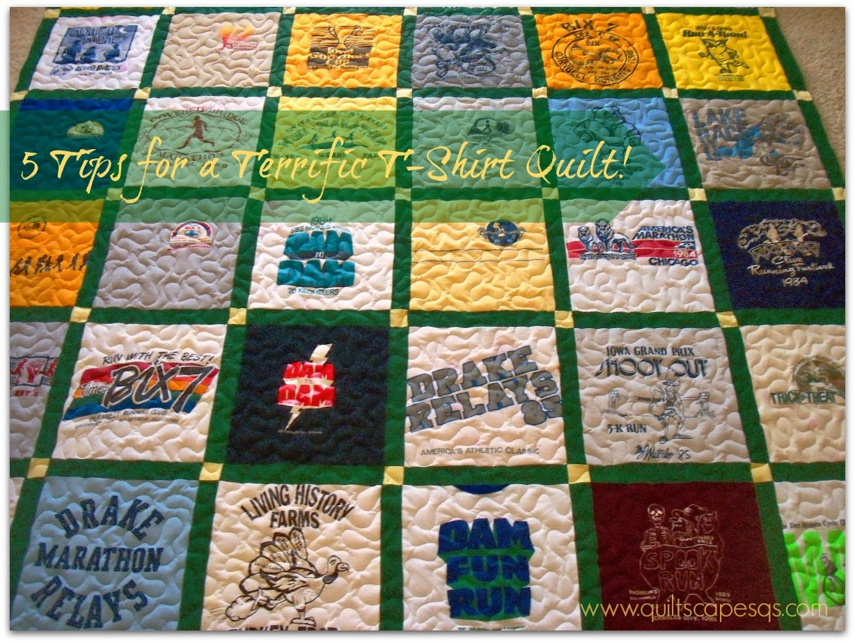 .Quiltscapes.: 5 Tips for a Terrific T-Shirt Quilt!