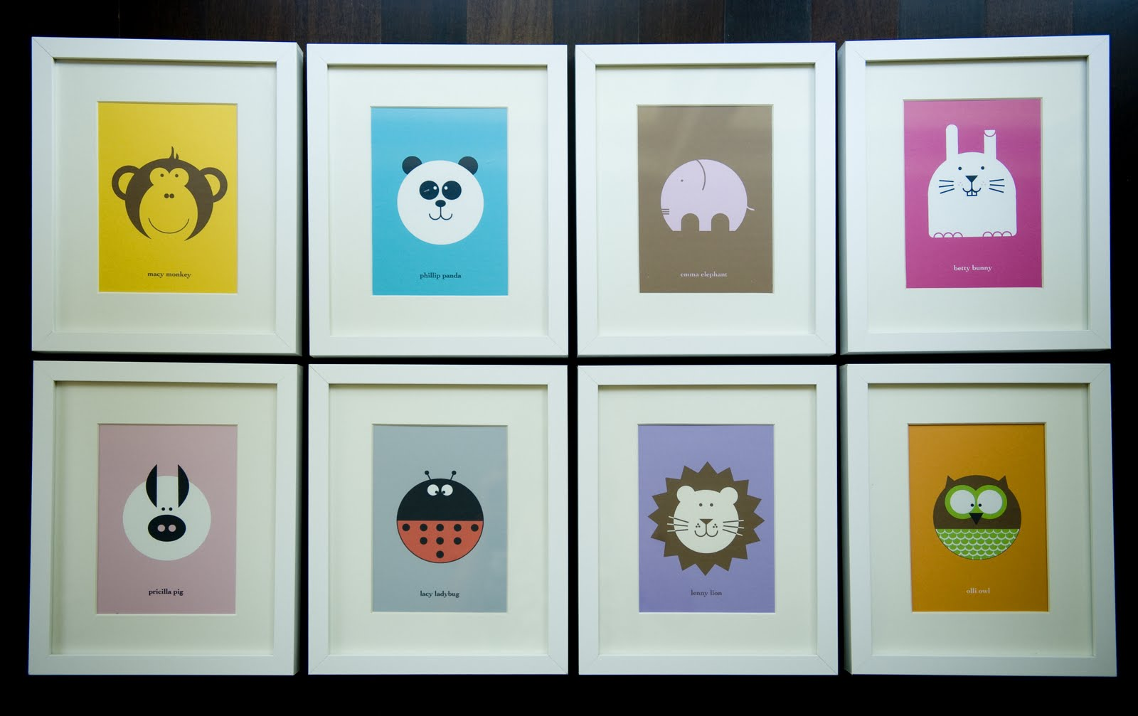 joe and lolo and pepper modern nursery art - modern nursery art