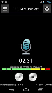Hi-Q MP3 Voice Recorder - Aplikasi Merekam Android