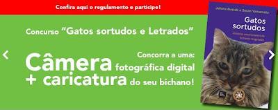 Banner de divulgação do Concurso Gatos Sortudos e Letrados