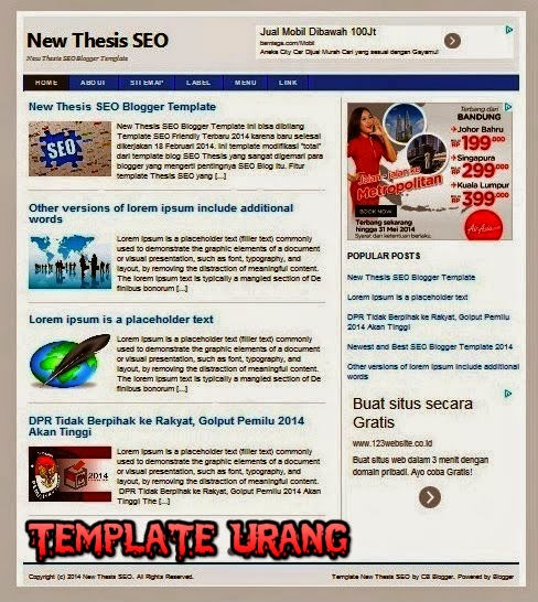Template New Thesis SEO Blogger Terbaru