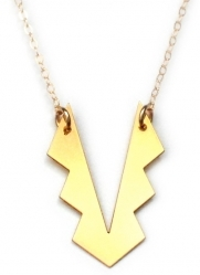 Brevity Tribal Metal Necklace