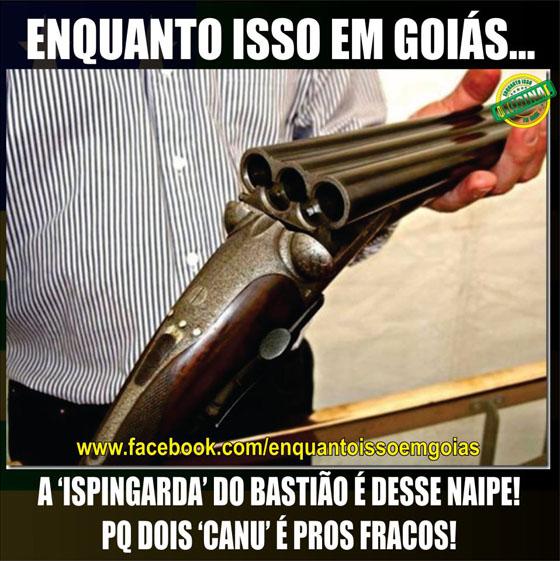 MOTIVACIONAIS: Enquanto isso em Goiás... - A ispingarda do bastião é de 3 canos...
