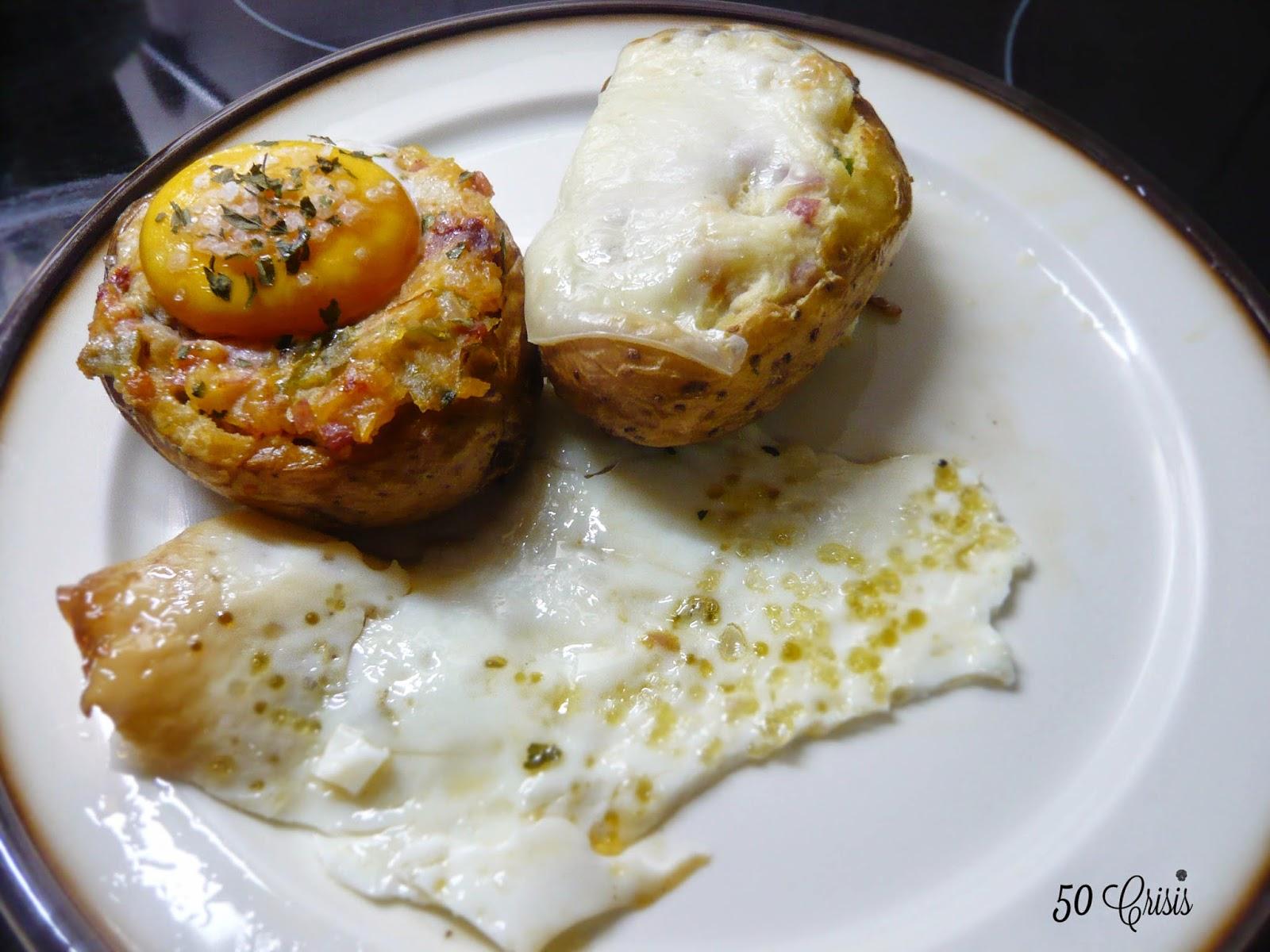 Patatas rellenas de jamon y queso cocinar en casa es for Cocinar patatas rellenas