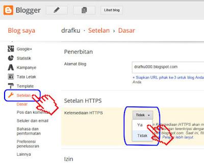 Cara Aktifkan HTTPS Untuk Blogspot