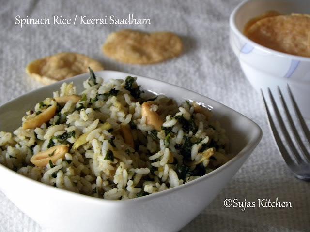 Spinach Rice / Keerai Saadham