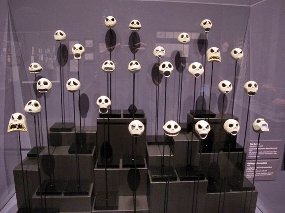 just a few of jacks faces used in the making of the nightmare before christmas - Making Of Nightmare Before Christmas