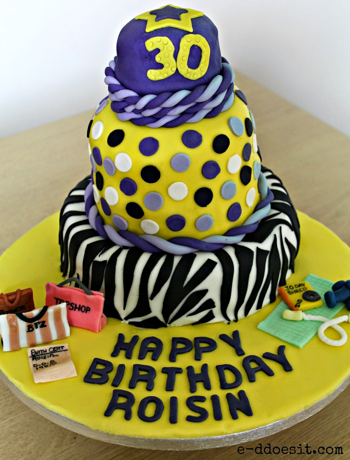 E D Does It Spotted Zebra Birthday Cake