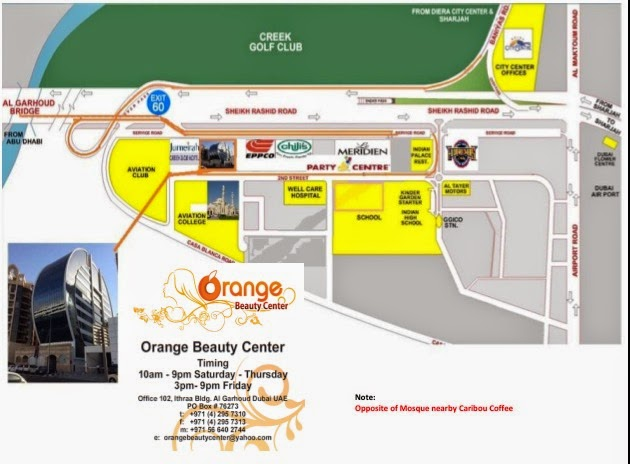 Orange Beauty Center location map