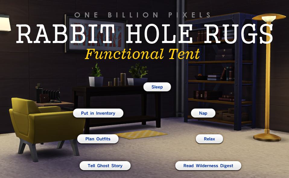 Rabbit Hole Rugs Functional Tent The Sims 4 One