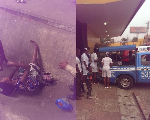 Photos: Pregnant Woman Went Into Labour, Delivers Baby On The Streets In Onitsha