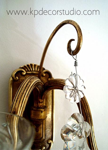 Lámparas de lágrimas. Apliques vintage estilo clásico chandelier