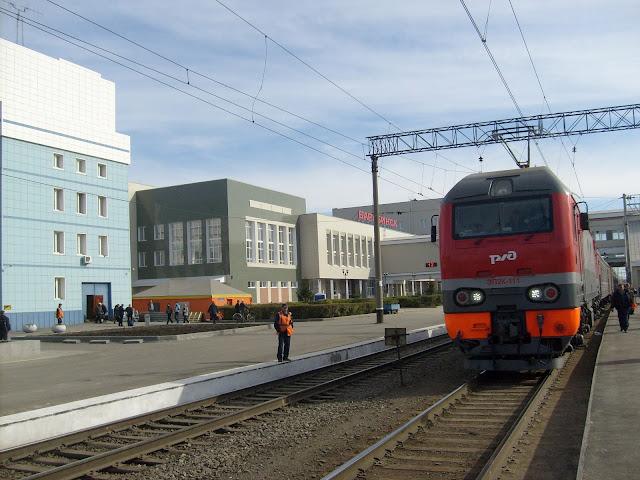 Железнодорожный вокзал, перрон