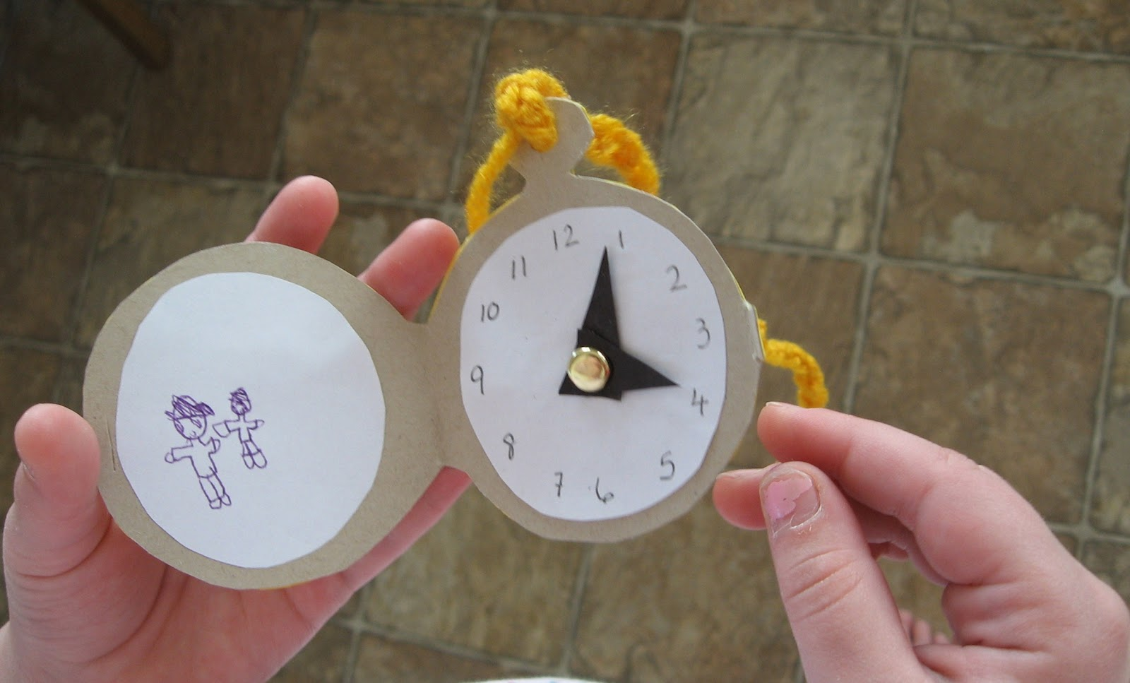Almost unschoolers alice in wonderland pocket watch craft Alice and wonderland art projects