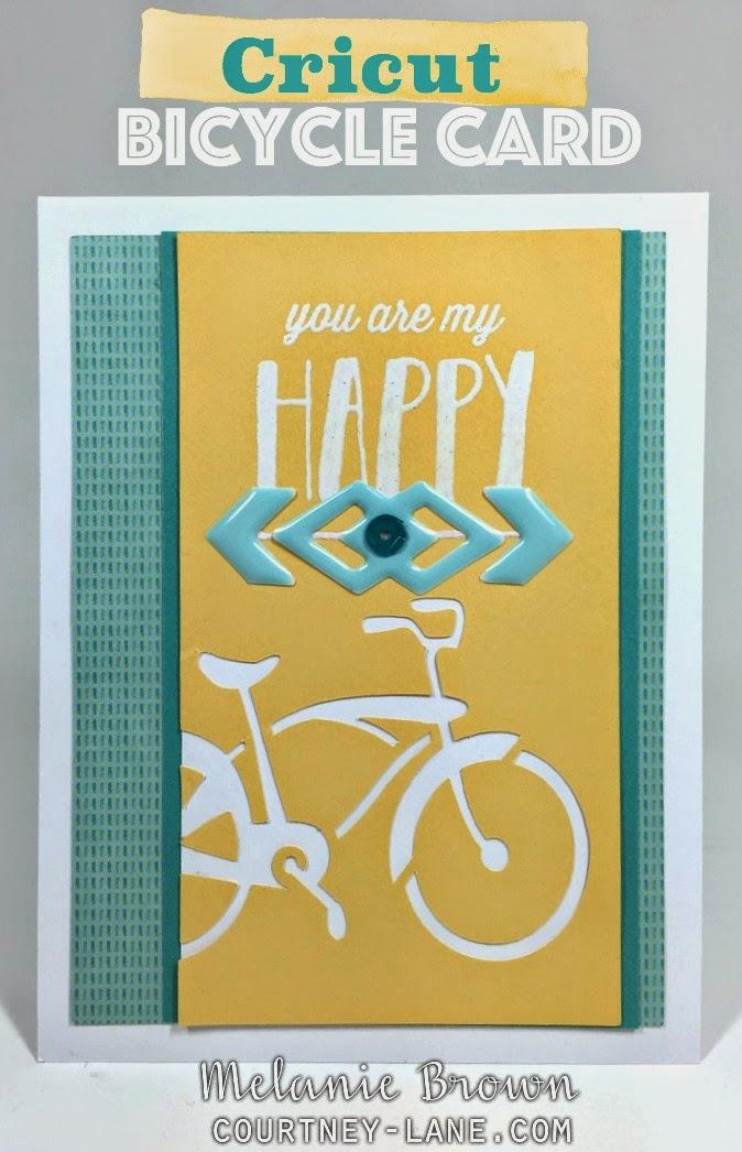 Cricut Bicycle card