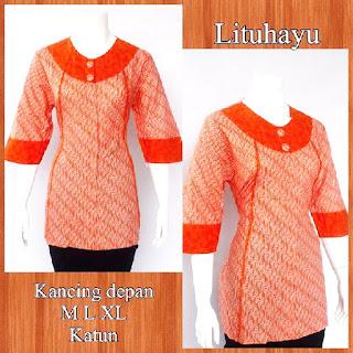 Baju Blouse Batik Lituhayu DBT 4209