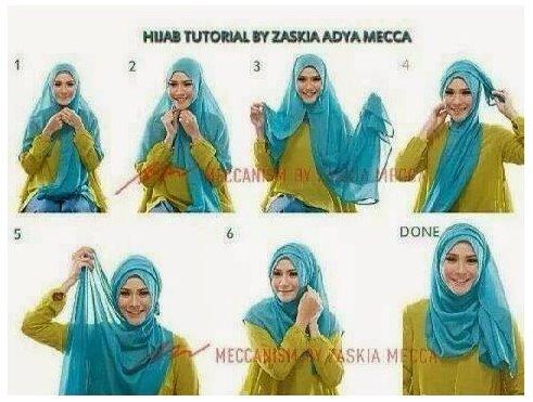 Koleksi Tutorial Cara Pakai Hijab Modern Ala Zaskia Adya Mecca