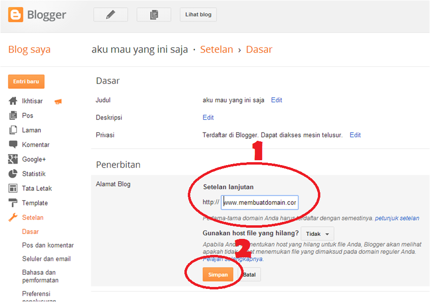 cara membuat domain sendiri