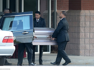 Bobbi Kristina is laid to rest, fight breaks out during the funeral | PHOTOS