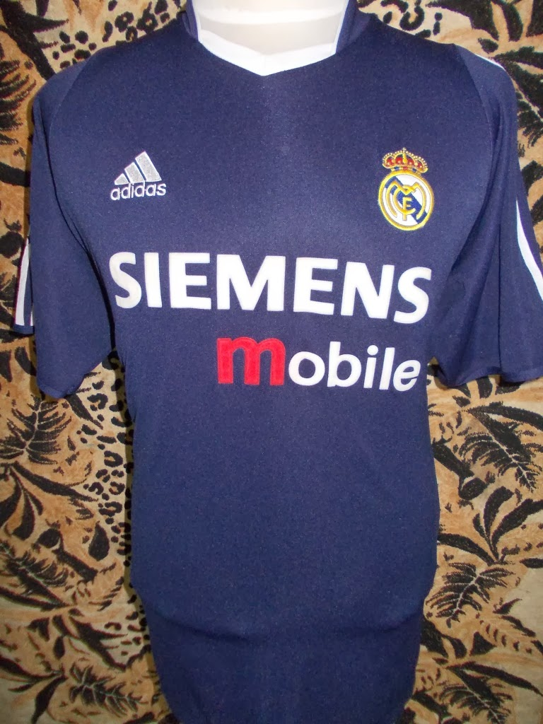 REAL MADRID FOOTBALL 2004 AWAY UCL JERSEY RM 88.00