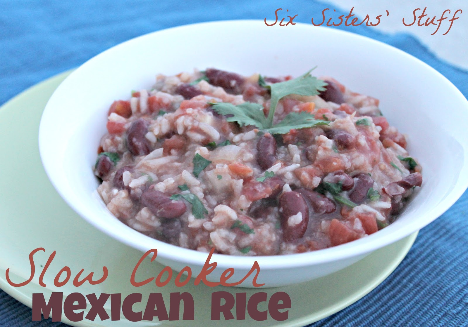 Slow Cooker Mexican Rice | Six Sisters' Stuff