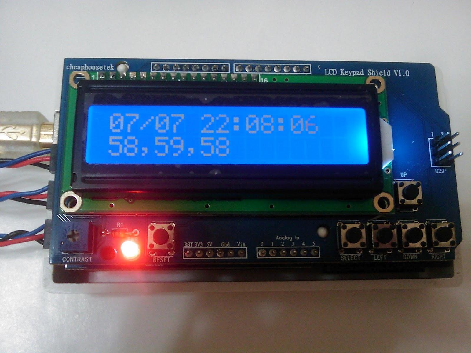 Cheaphousetek freeduino arduino datalogger shield lcd