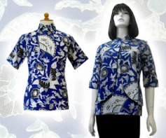 Model baju batik modern 0121