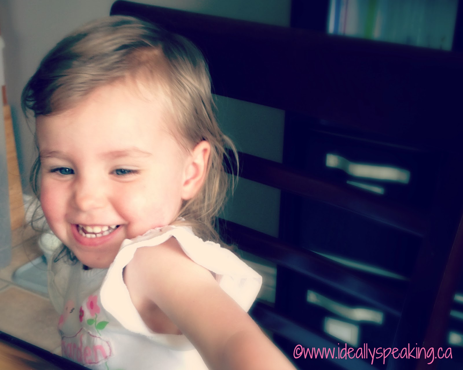 Toddler smiles are best thing ever.