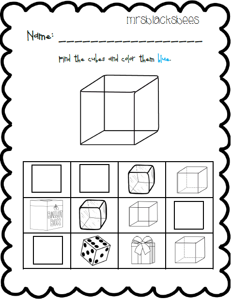 math worksheet : 3d shapes worksheets for kindergarten  the best and most  : 3d Shapes Worksheets Kindergarten