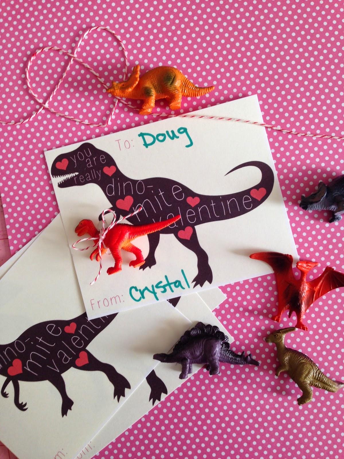 A Dino Mite Valentine! {with A Free Printable}