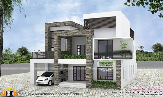 Contemporary house by Shiju George