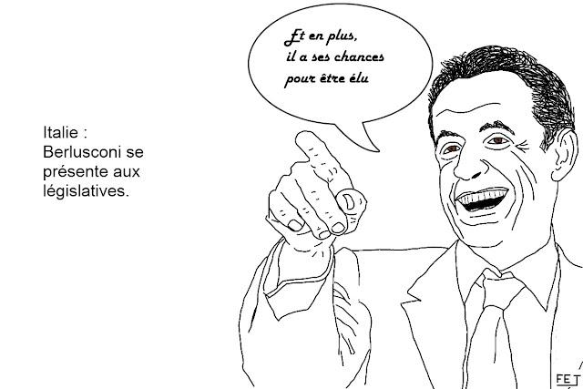 Italie: Berlusconi a ses chances. Sarkozy le retour.