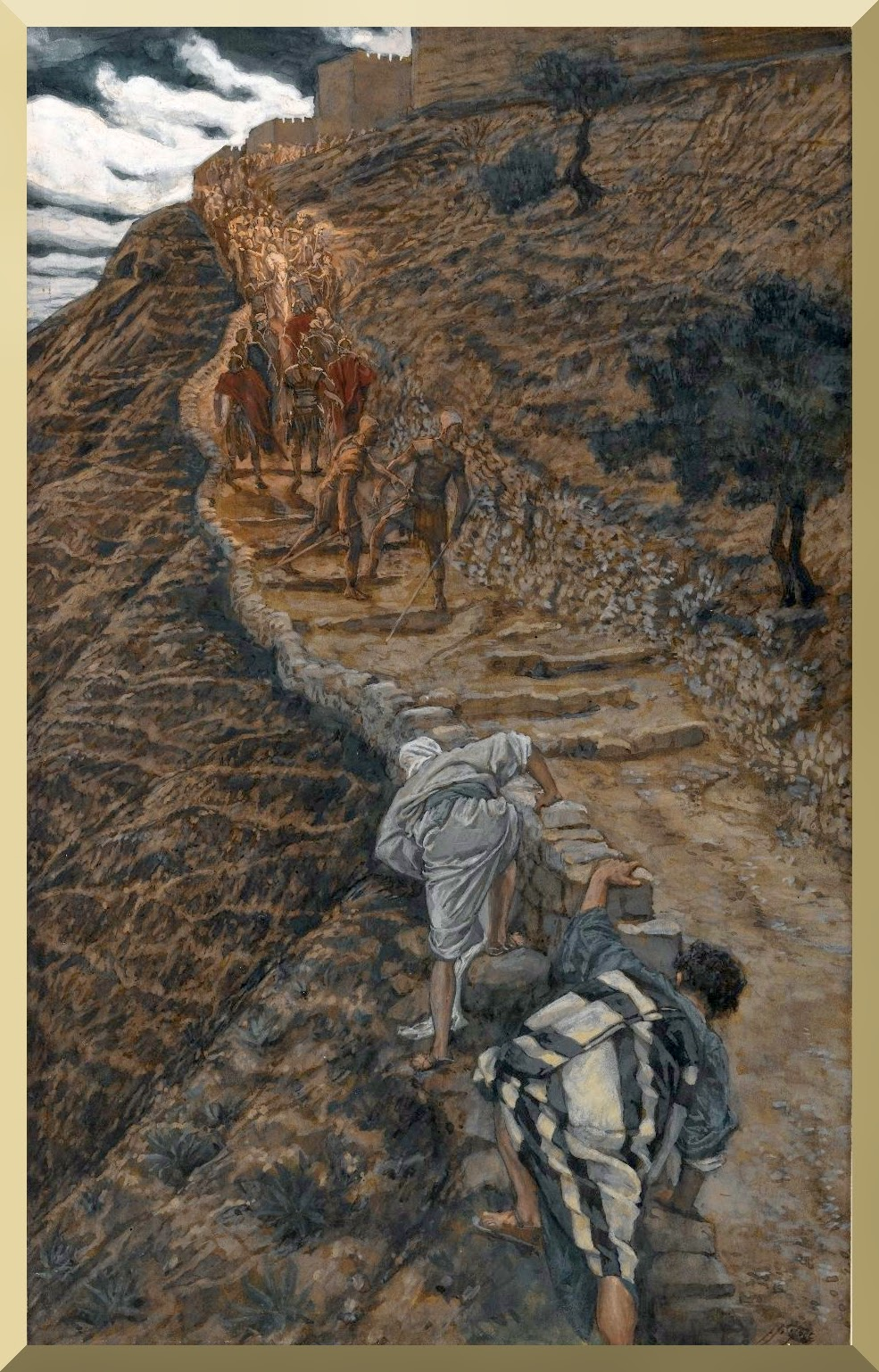 """Saint Peter and Saint John Follow from Afar"" -- by James Tissot"
