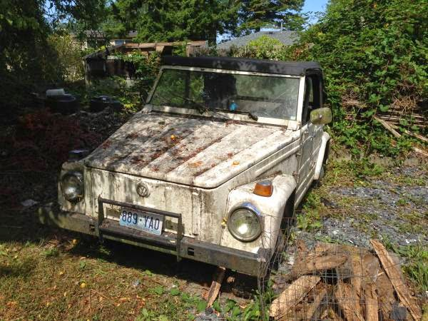 Restoration Project Cars: 1973 VW Thing Project