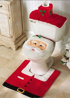 Decoração de papai noel no banheiro