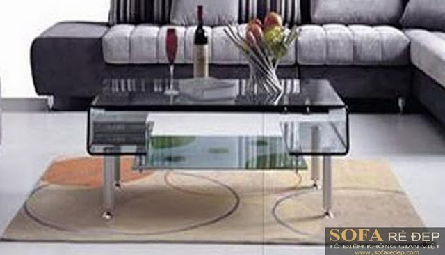 Bàn sofa kiếng 014HK