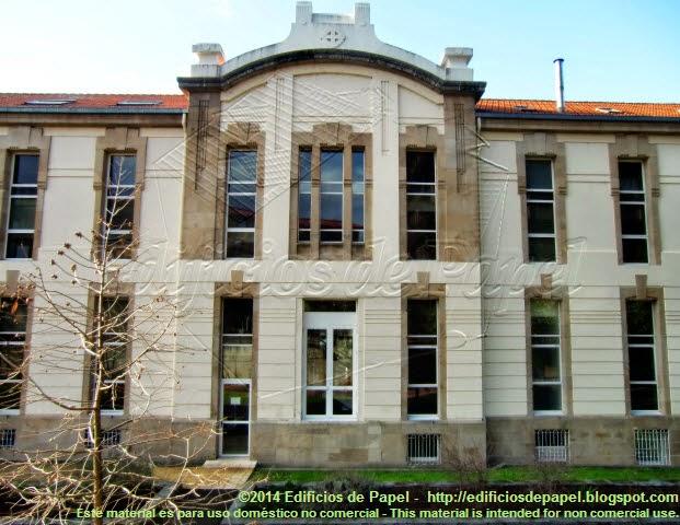 Uno de los mayores pabellones del antiguo Hospital de Beneficencia de Orense
