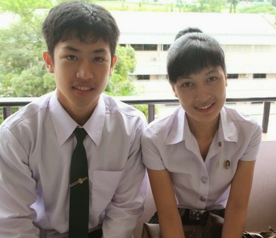 Gracious thai boy and girl