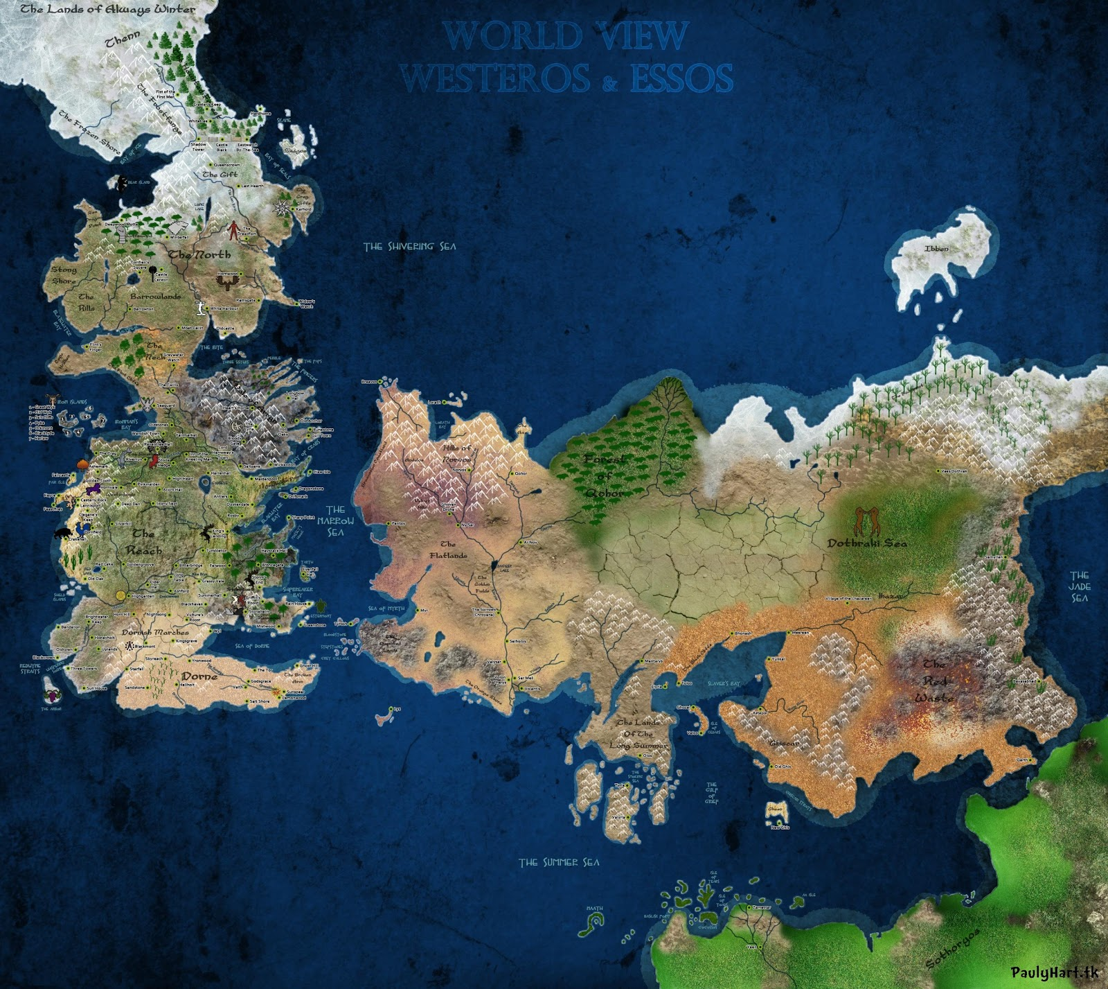Game of Thrones Map Ice and Fire