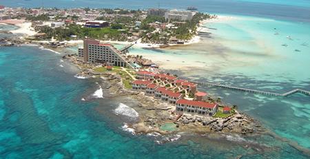 Imagen aérea de Isla Mujeres