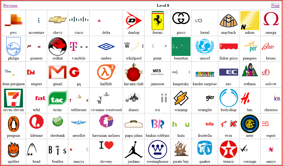 Windows 8 Logo Quiz Answers Level