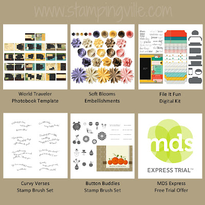 New Downloads - Digital Stamp Brushes & Digital Kits from Stampin' Up!